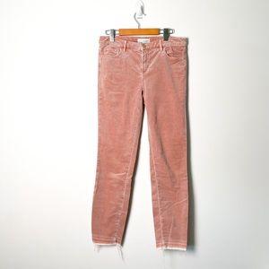Loft Pink Corduroy Modern Skinny Jeans Size 4